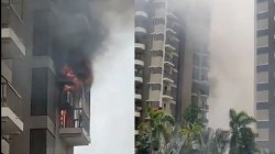 Ahmedabad Fire Breaks Out At Residential Building Several Feared Trapped