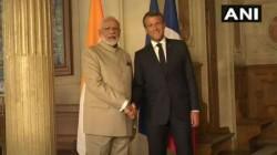France Prime Minister Narendra Modi Meets France President Emmanuel Macron