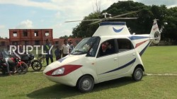 Bihar Youth Convert Tata Nano Into Helicopter