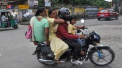 Motor Vehicle Act Child In Lap On Bike To Be Considered As Third Rider