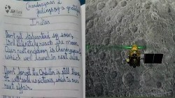 Chandrayaan 2 10 Year Old Boy Wrote Letter To Isro Says Don T Loose Hope