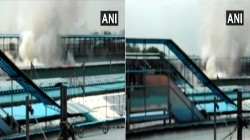 A Train Caught Fire At A New Delhi Station