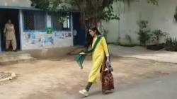 Tej Pratap Yadav Wife Aishwarya Rai Came Out From Rabri Devi House