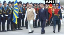 Pm Modi Reaches Russia Gets Grand Welcome Receives Guard Of Honour