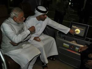 Pm Narendra Modi Rides Self Driving Car Masdar