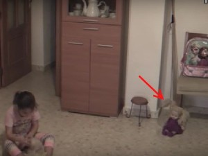 Cctv Chilling Video Reveals Little Girl Terrified Gets Viral
