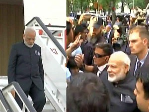 Pm Narendra Modi Reaches Madrid Meets People Outside Hotel