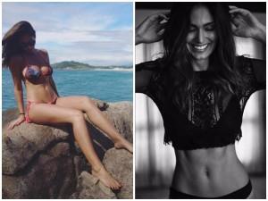 Bruna Abdullah Sports Bikini Chills Atop Rock The Beach