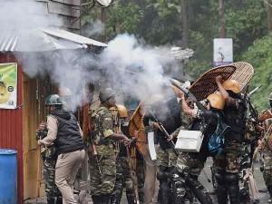 Thirty Six Policemen Injured One Killed Darjeeling Violence