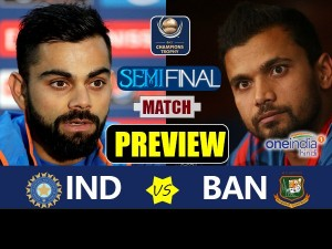 Champions Trophy 2017 Match Preview Of Semi Final 2 India Vs Bangladesh On June 15