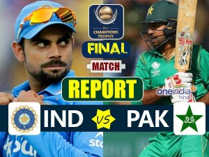 Icc Champions Trophy Final Match Report India Vs Pakistan