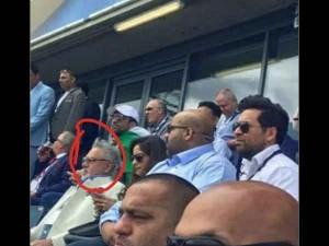 Vijay Mallya Spotted At India Pakistan Champions Trophy Game In Birmingham